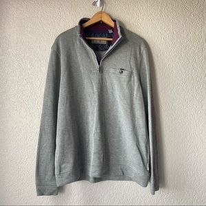 Ted Baker Quarter Zip Sweater Gray